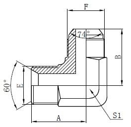 BSP hidrauliniai adapteriai