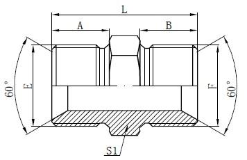 BSP vyrų adapterio jungiamosios detalės