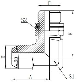 BSP O-žiedo reguliuojamas žnyplės brėžinys