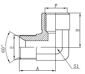 Alkūnės BSP adapterio jungiamosios detalės